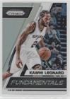 Kawhi Leonard (Basketball Card) 2017-18 Panini Prizm - Fundamentals - Silver Prizms (Silver Fundamentals)