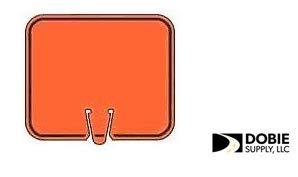- Cone Sign, Orange Blank with Black Border