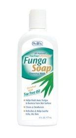 FungaSoapLiquid avec de l'huile d'arbre à thé, 6 oz Pedifix.