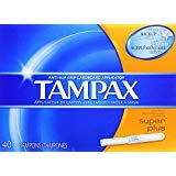 Applicator Flushable - Tampax Super Plus Tampons with Flushable Cardboard Applicator-40 ct Pack of 2