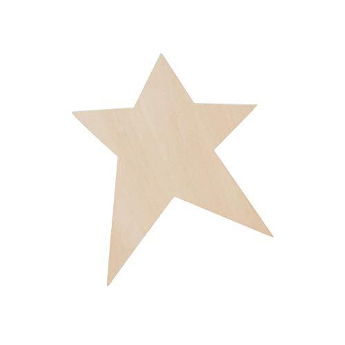 Darice Bulk Buy DIY Wood Shape Folk Art Star 4-3/8 x 6 inches (48-Pack) 9171-56 ()