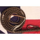 Bull Whip Real Leather Dark Brown BULLWHIP 14 Foot 4 Plait