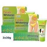 2 X New Finale Whitening Lightening Cream Armpit , Knee, Elbow Nanotechnology 30 G., Thailand.