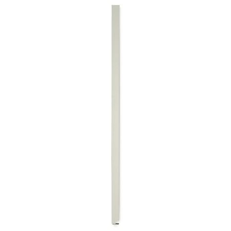 82 Inch X 8 Inch Pilaster Toilet Partition Solid Polymer Cream