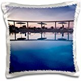 Hotel El Mouradi Pool (Hotels - Tunisia, Jerid Area, Tozeur, Hotel El Mouradi Pool 16x16 inch Pillow Case)