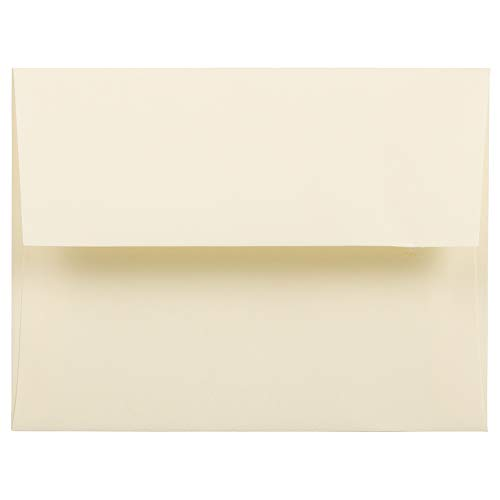 JAM PAPER A2 Strathmore Invitation Envelopes - 4 3/8 x 5 3/4 - Ivory Wove - 50/Pack