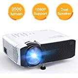 Projector APEMAN Video Mini Portable Projector 3500 Lumen with Dual Built-in Speakers 45000 Hours LED Life Support HD 1080P...
