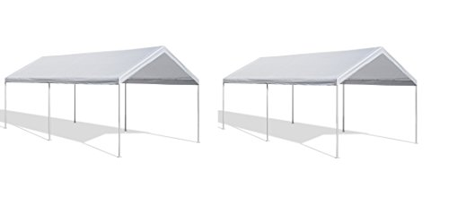 Caravan Canopy 10 X 20-Feet Domain Carport, White (Pack of 2) by Caravan Canopy