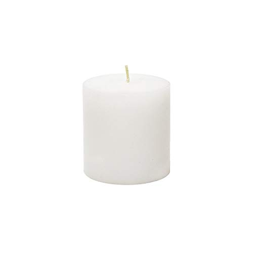 Mega Candles Unscented White Round Pillar Candle | Hand Poured Premium Wax Candles 3 x 3 | For Home Décor, Wedding Receptions, Baby Showers, Birthdays, Celebrations, Party Favors & More