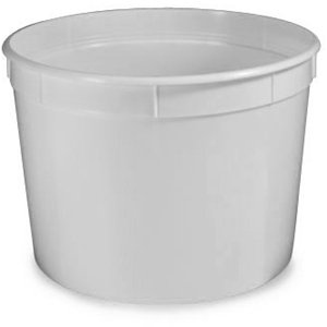 Container, Multi-Purpose, 86oz (2580mL), Separate Snap Lid, White by Globe Scientific (Image #1)
