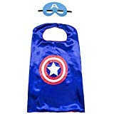 Aodai Halloween Costumes and Dress up for kids - Captain America Costume Cape and Mask]()
