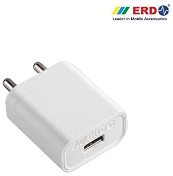ERD TC 50 5V 2Amp Fast Charger with 1 m USB Cable for All Android and Smart Phones  White  Chargers