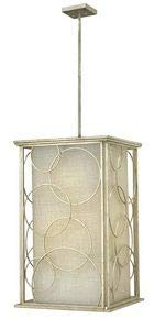 Hinkley 3286SL Transitional Six Light Stem Hung Foyer from Flourish collection in Pwt, Nckl, B/S, ()