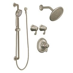 Moen TS270BN ExactTemp Transfer Vertical Spa Trim Kit without Valve, Brushed ()