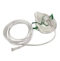 Adult Oxygen Mask w/7' Oxygen Tubing Latex Free-cs/50 by Allied Healthcare