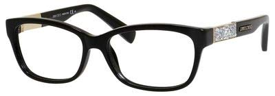 Jimmy Choo Plastic Rectangular Eyeglasses 53 029A Shiny ()