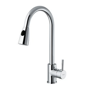 Vigo VG02005 Weston Pull-Down Spray Kitchen Faucet with Single Handle Lever,