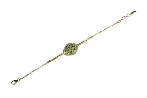 Snakeskin Diamond Bracelet - Lime