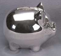 Adorable Silverplate PIGGY BANK -