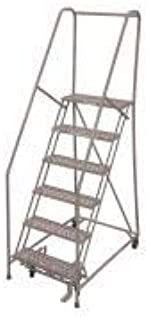 product image for Cotterman 1506R3232A3E10B4W4C1P6 - Rolling Ladder Steel 90In. H. Gray