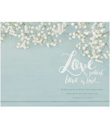 Standard Bulletin 11 - Wedding - Love is patient, love is kind.... (Pack of 100)]()