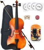 Crescent 3/4 Full Size Student Violin Starter Kit, Natural Wood (Includes CrescentTM Digital E-Tuner) by Crescent