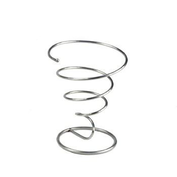 5'' Diameter Stainless Steel Metal Wire Spiral Cone French Fry Holder Or Appetizer Basket by GET Clipper Mill 4-88800-M by G.E.T. Enterprises