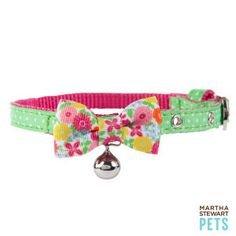 Martha Stewart Pets Green Garden Girl Dot Buckle Collar~Xs~