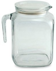 2 liter glass pitcher with lid - 9