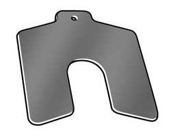 (Slotted Shim, Tab, A, 0.0600 In, PK20)