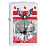 Zippo Washington DC Landmarks White Matte Pocket Lighter ()