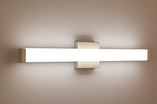YHTlaeh Bathroom Vanity Light Brushed Nickel Square LED 24 inch 14W 4000K Natural White Light Wall Bar Lighting Fixtures…
