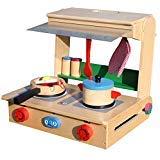 - london-kate Deluxe Wooden Toy Kitchen Set - Table Top Toy Kitchen Set
