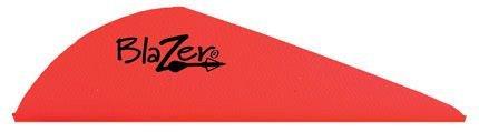 Blazer 2 Bohning Vanes (Bohning 10831NO2 Blazer Vanes 2-Inch, Neon Orange, 36-Pack)