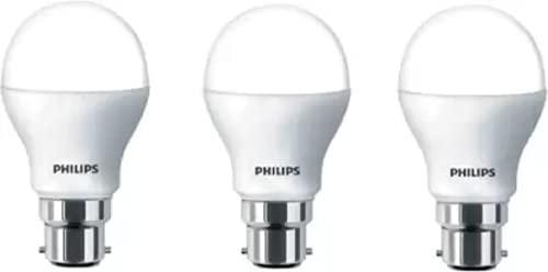 Philips 4 W Standard B22 LED Bulb  Yellow, Pack of 3