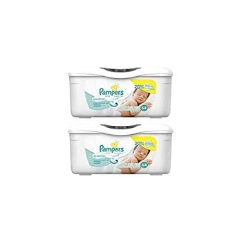 Amazon.com: Pampers Baby Wipes Tub, Sensitive - 64 Wipes/Tub (6-Pack ...