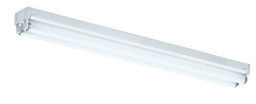Lighting by AFX ST217R8 Standard 24-Inch 2-27 T8 Light Strip, White Enamel Steel Chassis