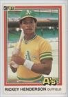 1981 Donruss Baseball Card #119 Rickey Henderson Mint
