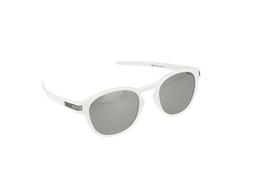 Oakley Men's Latch Non-Polarized Iridium Oval Sunglasses, Matte White, 53 - Oakly Frames