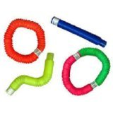 Pop Toob Set of Six (Colors May Vary) by Poof Slinky by Poof Slinky