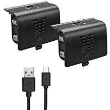 Xbox one Battery Pack 800mAH (2-Pack) Rechargeable NI-MH compatible with Xbox One S/Xbox One X/Xbox...
