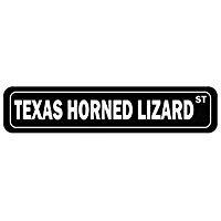 (Texas Horned Lizard Street - Animals - Street Sign [ Decorative Crossing Sign Wall Plaque ])