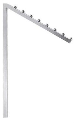 - Straight Arms Interchangeable Chrome Slant Arm with 8 Balls & Square Tubing for Clothing Racks