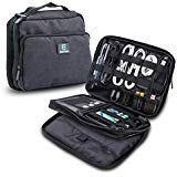 (ElecTrek Products Cable Organizer Bag- Water-Resistant Bag organizes and Protects USB Drives, Memory Cards, Chargers, Cables, Cords, adaptors and Other Device)