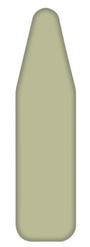 "HOMZ Standard Ironing Board Replacement Cover and Pad, Monthly Use, Cover Fits Boards Up to 15"" W x 55"" L, Sage Green from HOMZ"