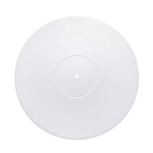 Acrylic Turntable Mat | White | LP Slipmat with Record Label Recess