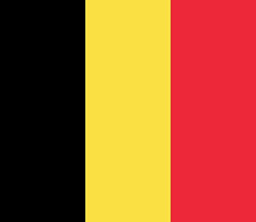Belgium 4 Pack of 4 Inch Wide Country Flag Stickers for Window Laptop Computer