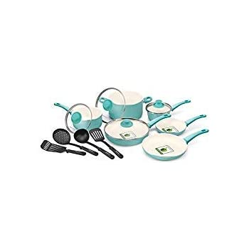 Amazon.com: GreenLife Soft Grip 15pc Ceramic Non-Stick Cookware Set ...