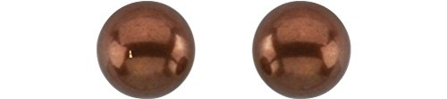 Freshwater Cultured Chocolate Pearl 14kt Yellow Gold Earrings (9.0-9.5 MM) by The Men's Jewelry Store (for HER)