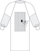 FABRIC REINFORCED STERILE GOWN,W/TOWEL,X-LARGE ()